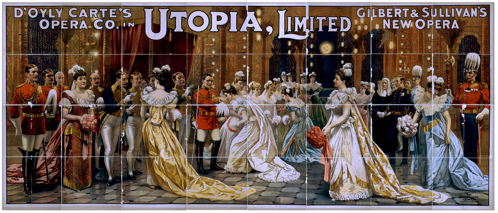 D'Oyly Carte's Opera Co. in Utopia, limited Gilbert & Sullivan's new opera-1894